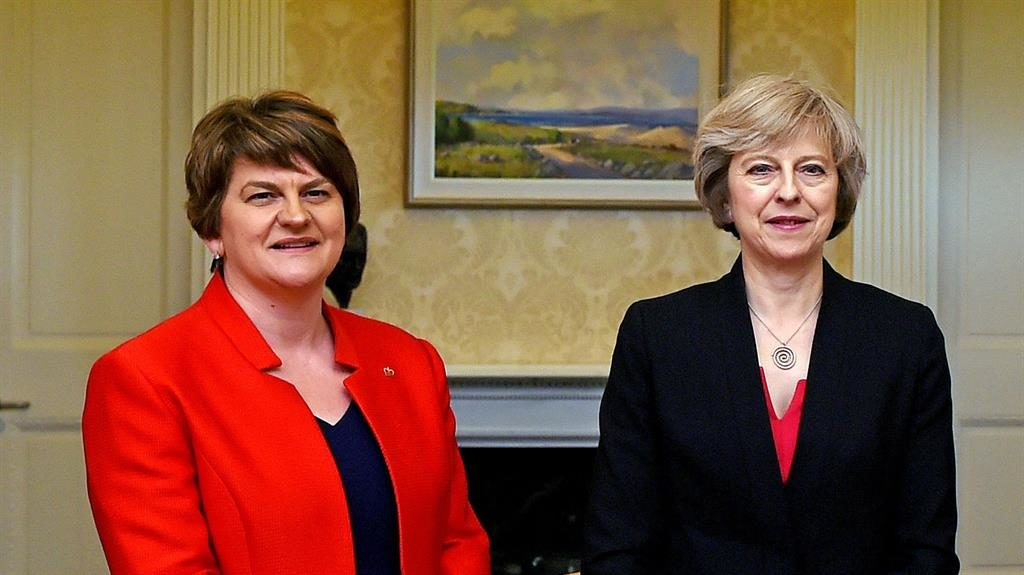 Talks to support May's Conservatives making progress, DUP says