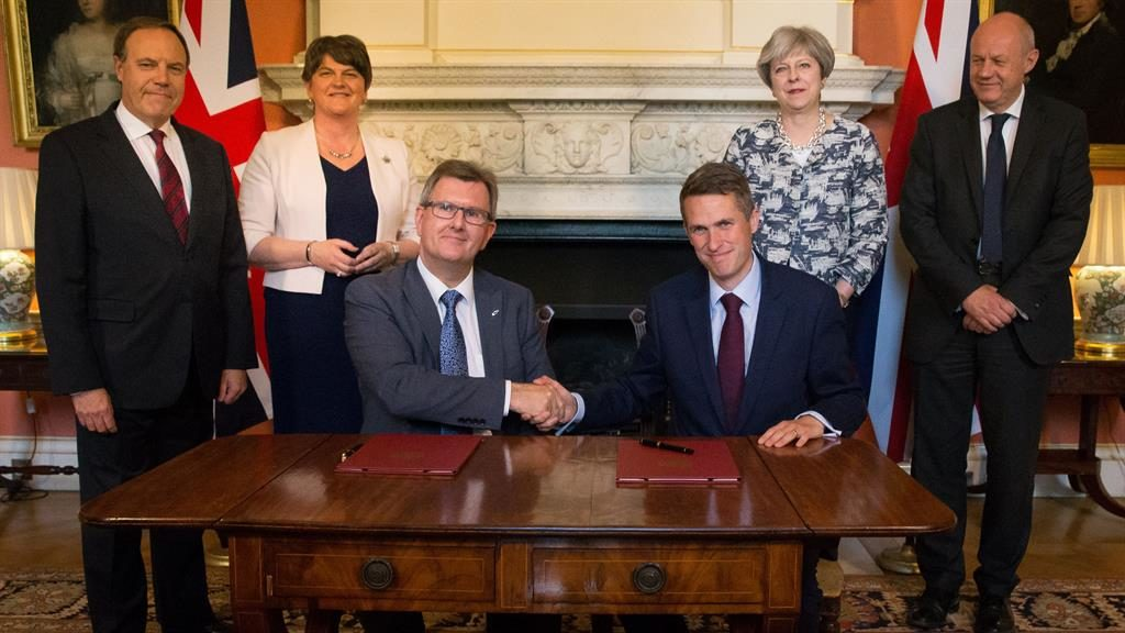 Theresa May buys DUP support with £1 billion 'bung'