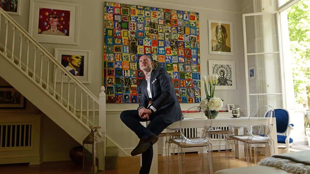 Centrepiece: Jean-David Malat with the Johannsson work in his living room