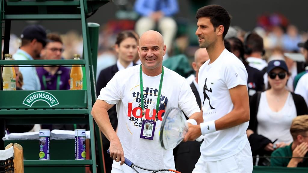 Dream team Agassi and Djokovic