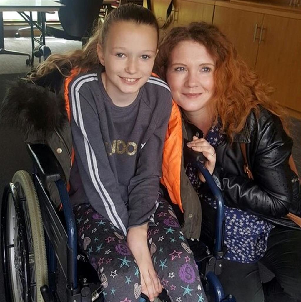 Bee strong: Jaden with Coronation Street's Jennie McAlpine PICTURES: SWNS