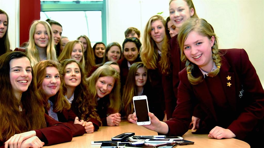 Turn off: Phones ban at school PIC: SWNS