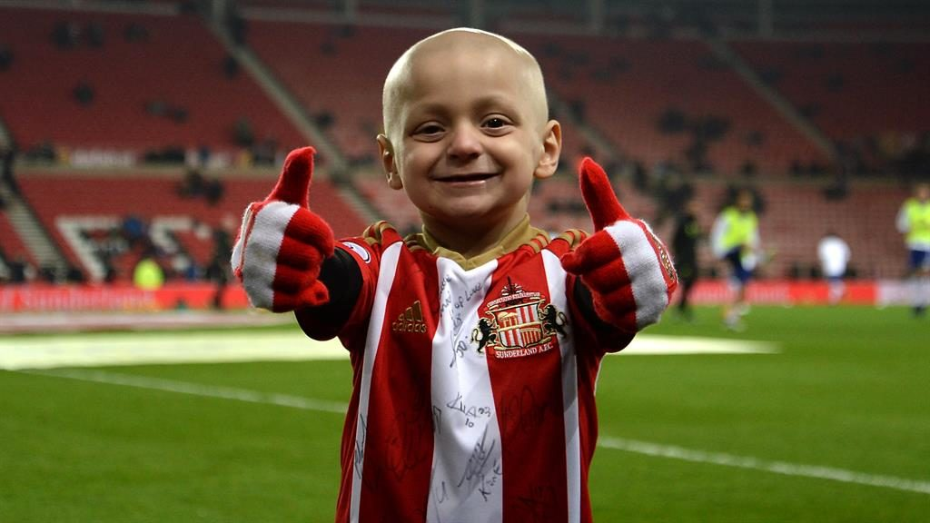 Thousands line the streets in football colours for funeral of Bradley Lowery