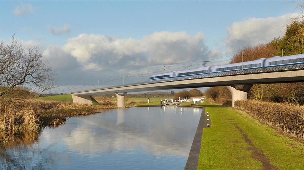 Extra capacity: The Birmingham and Fazeley viaduct, part of the proposed route for HS2 PICTURE: PA