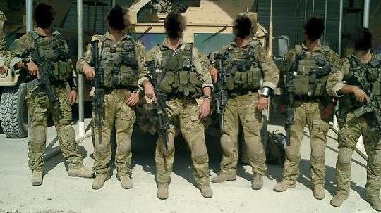 Gone rogue: A Facebook picture of men from the elite squad  PICTURE: SAS/FACEBOOK