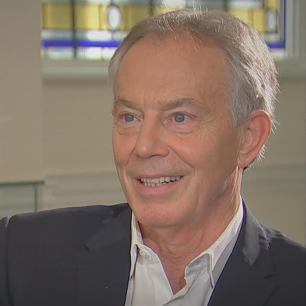 Warning: Tony Blair said Labour was offering the same hard Brexit as the Tories PICTURE: SKY NEWS