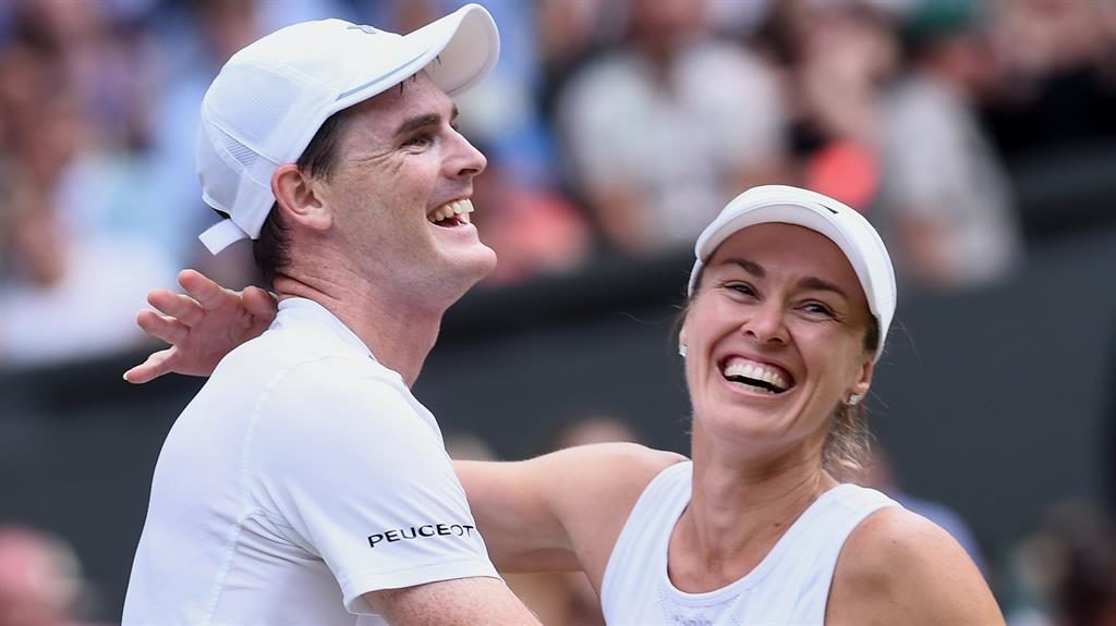 From text message to trophy: Jamie Murray, Martina Hingis on Wimbledon glory