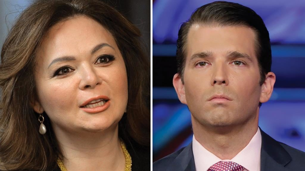 Meeting Natalia Veselnitskaya and Donald Trump Jr GETTY  AP