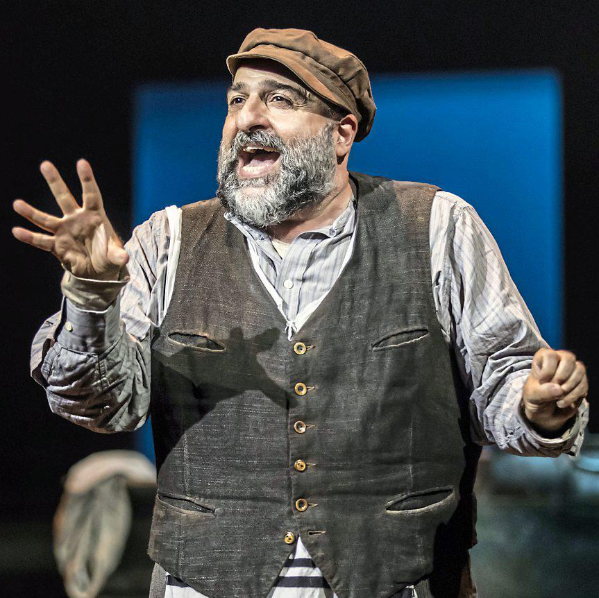 Barnstorming: Omid Djalili is terrific as tragicomic Tevye PICTURE: JOHAN PERSSON