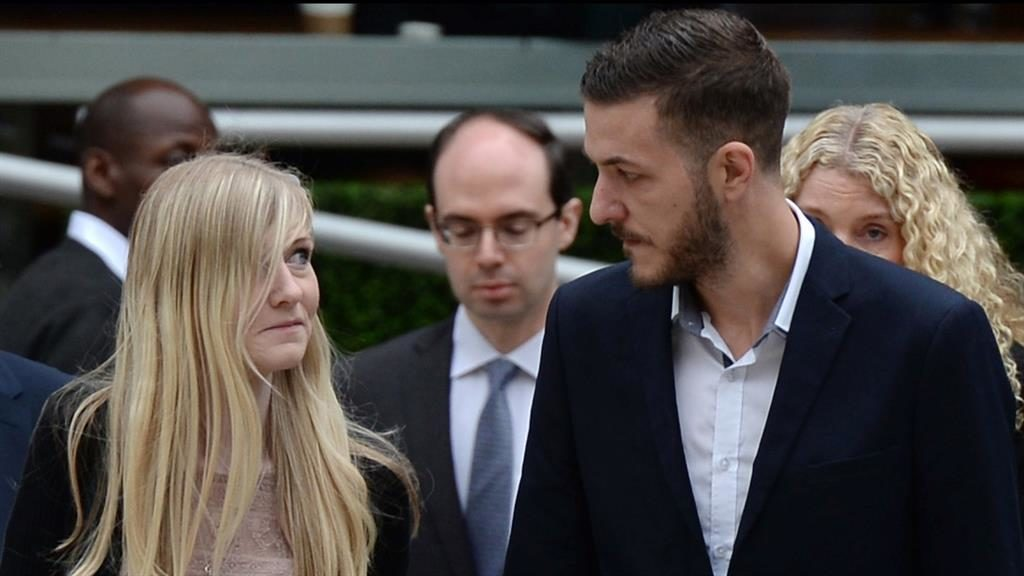 Worst fears confirmed: Connie Yates and Chris Gard, the parents of terminally-ill 11-month-old Charlie Gard, arrive at the Royal Courts of Justice in London