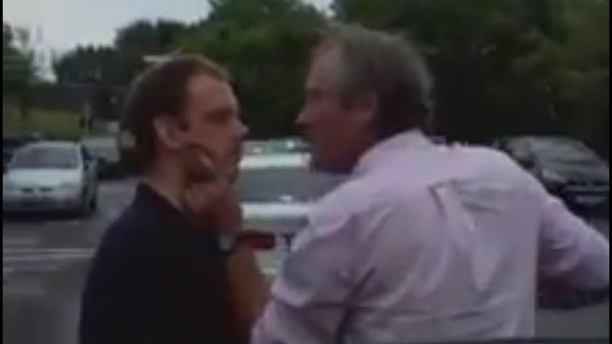 Really wild show… TV man filmed in road rage rant