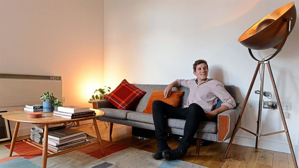 Sofa, so good: Will waited to get his retro furniture