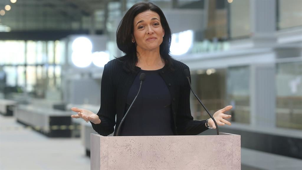Tech chief: Sheryl Sandberg says it is important that girls are told they can run the world PICTURE: AP
