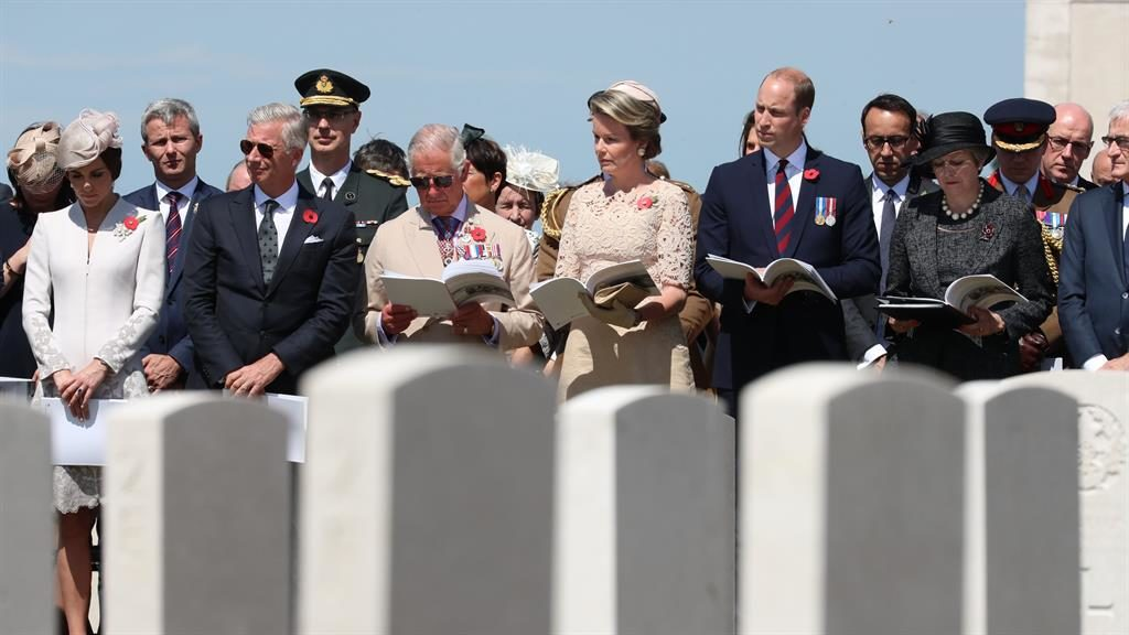 Wills and Kate mark 100 years since WWI battle of Passchendaele