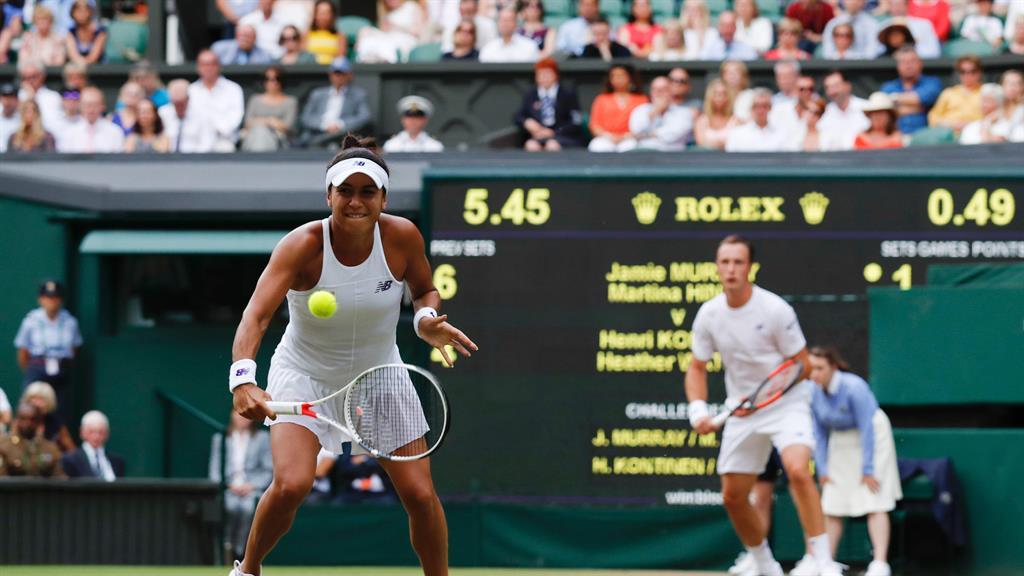 Content Watson enjoyed Wimbledon