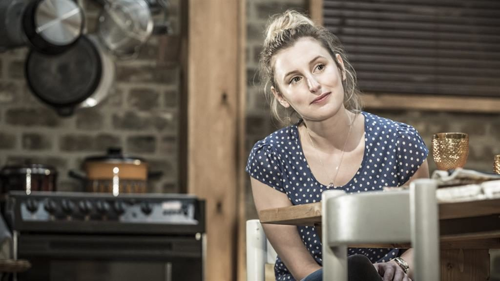 Eager to please: Laura Carmichael. plays a platitude spouting Christian PICTURE: MARK BRENNER