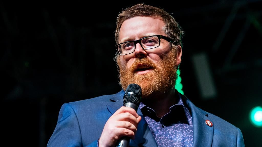 Thoughtful: Frankie Boyle seems relaxed on stage PICTURE: ALAMY