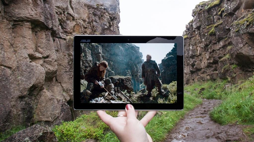 Northern exposure: Tiia and Satu (below) visited Iceland for this scene from Game Of Thrones PICTURES: FANGIRL QUEST/CATERS NEWS