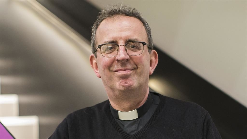 Ah, bless: Richard Coles is trading in his dog collar for something a little more sparkly (Picture: Rex)