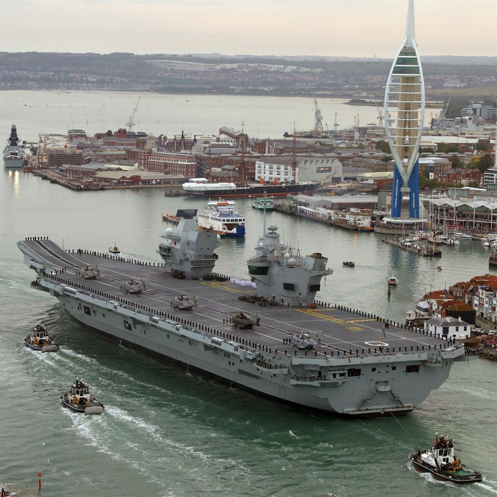 Tiny drone lands on Queen Elizabeth aircraft carrier