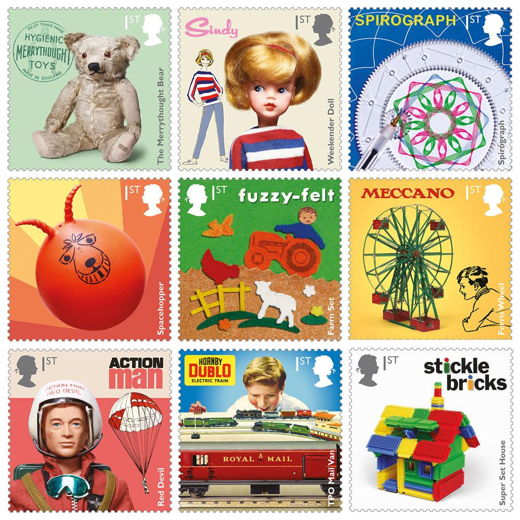 First Class Toys In The Post Stamps Feature Nostalgic Line
