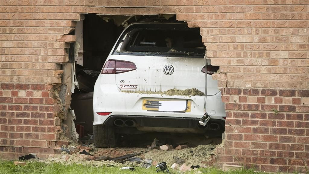 One man seriously injured after auto crashes into house in York
