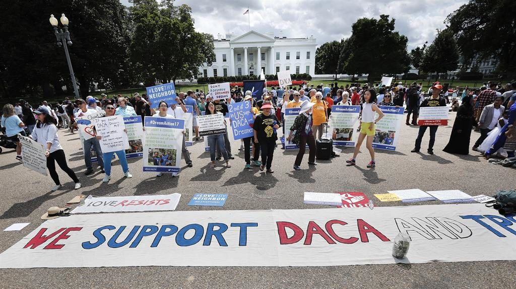 Keep dream alive: Daca supporters take their campaign to the White House PICTURE: AP