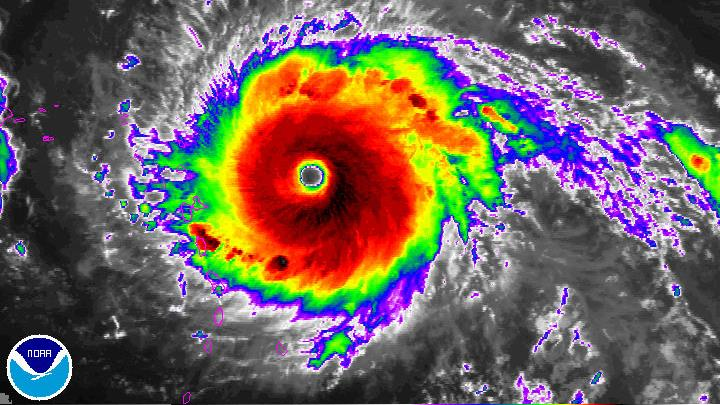Record-breaking Hurricane Irma bears down on Caribbean