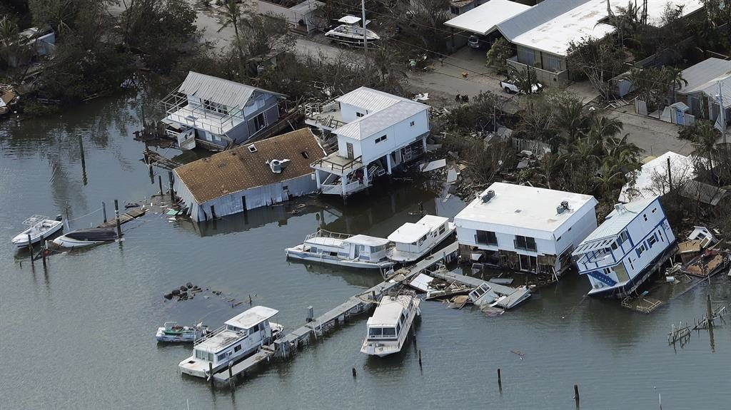 Washed away: Damaged homes in Key West PICTURE: AP