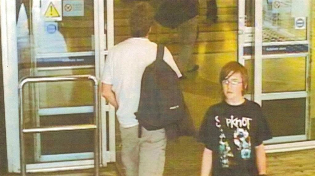 Last seen: A CCTV image of Andrew Gosden at King's Cross PICTURE: SWNS