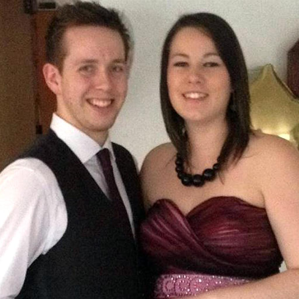 Poignant: James and Amy Barnes PIC: CATERS