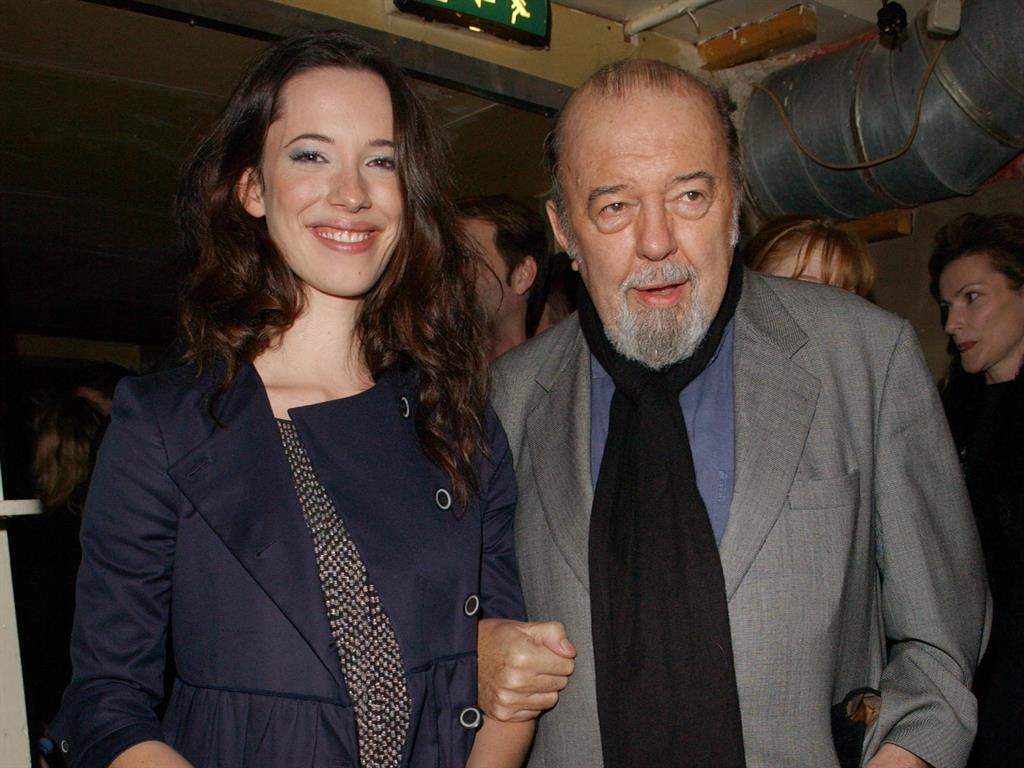 Fondly remembered Sir Peter with actress daughter Rebecca Hall