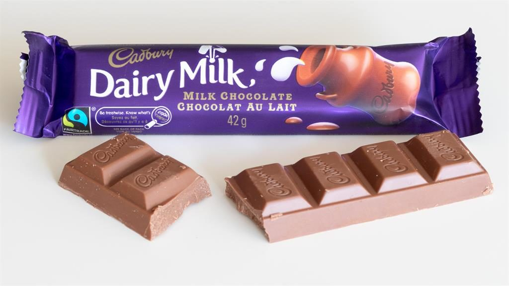 Chocs away: Dairy Milk fell 4.2 per cent PICTURE: ALAMY