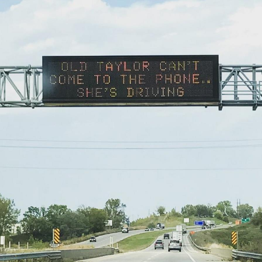 Taylor Swift Lyrics Part Of Road Safety Campaign