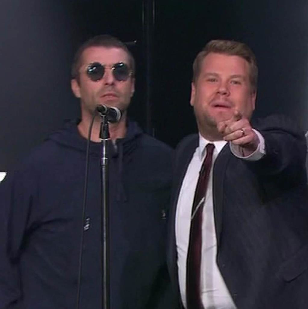 Liam Gallagher's Late Late Show Performance Goes Online