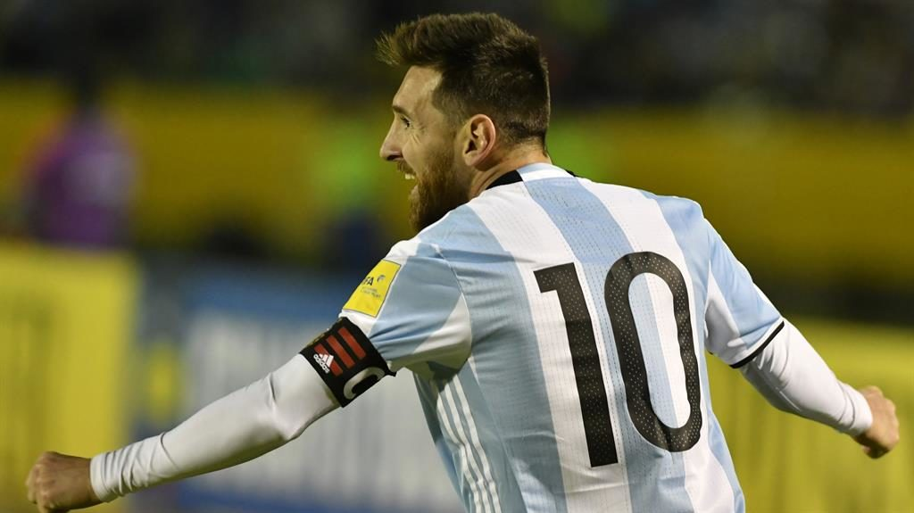a4d6b7be4ee Argentina boss Jorge Sampaoli hails Lionel Messi after the Barcelona  superstar ensures World Cup qualification with
