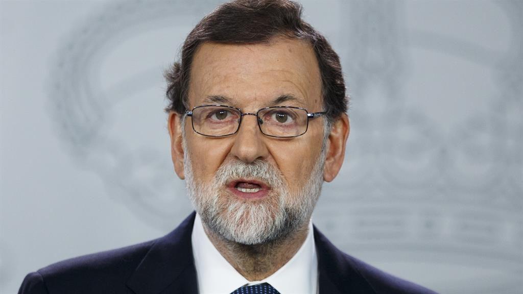 Defiant: Mariano Rajoy PIC: GETTY