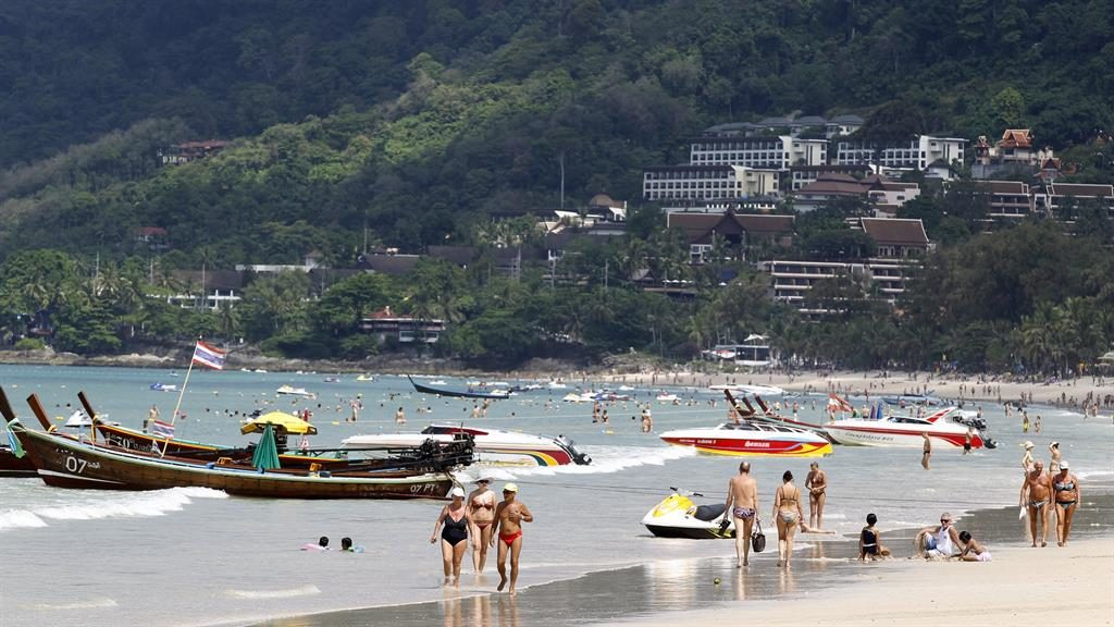 Hot topic: Smokers who light up on beaches such as Patong in Phuket face jail and a large fine PIC: EPA