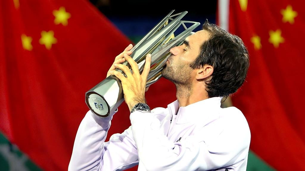 Shang-high Federer savours his 94th career title