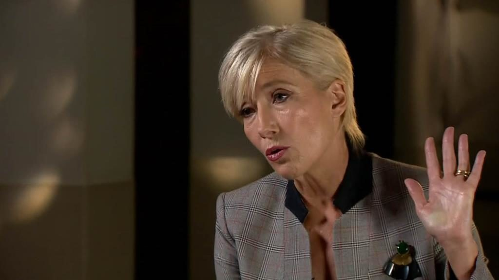 Abuse of power: Emma Thompson talks to Newsnight about the industry's gender issues PIC: BBC