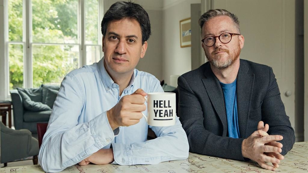 It's good to talk: Ed Miliband and co-host Geoff Lloyd