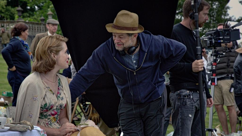 Directorial debut: Andy Serkis with star Claire Foy while shooting Breathe