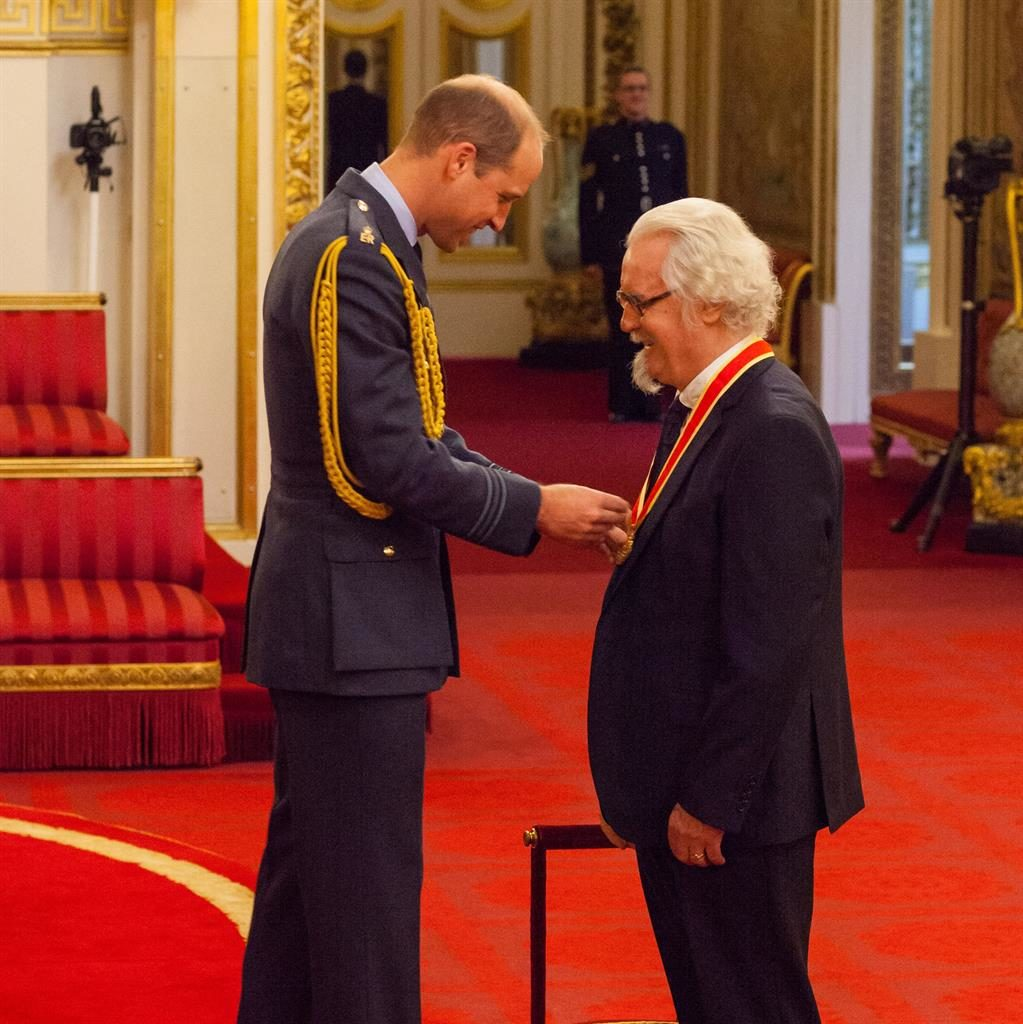 Sir Billy - royal knight of comedy at Buckingham Palace