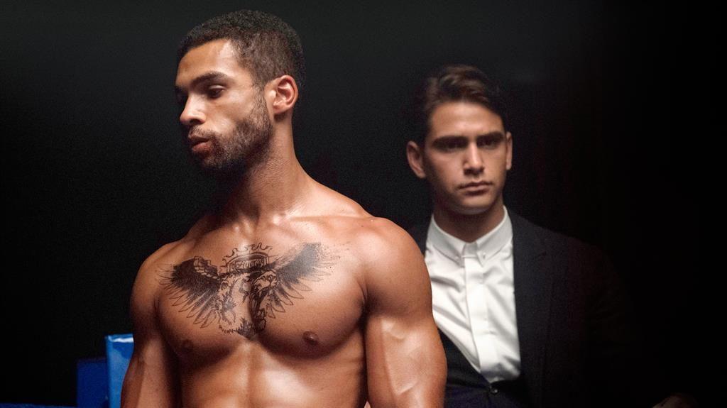 Black gay takes white cock hard