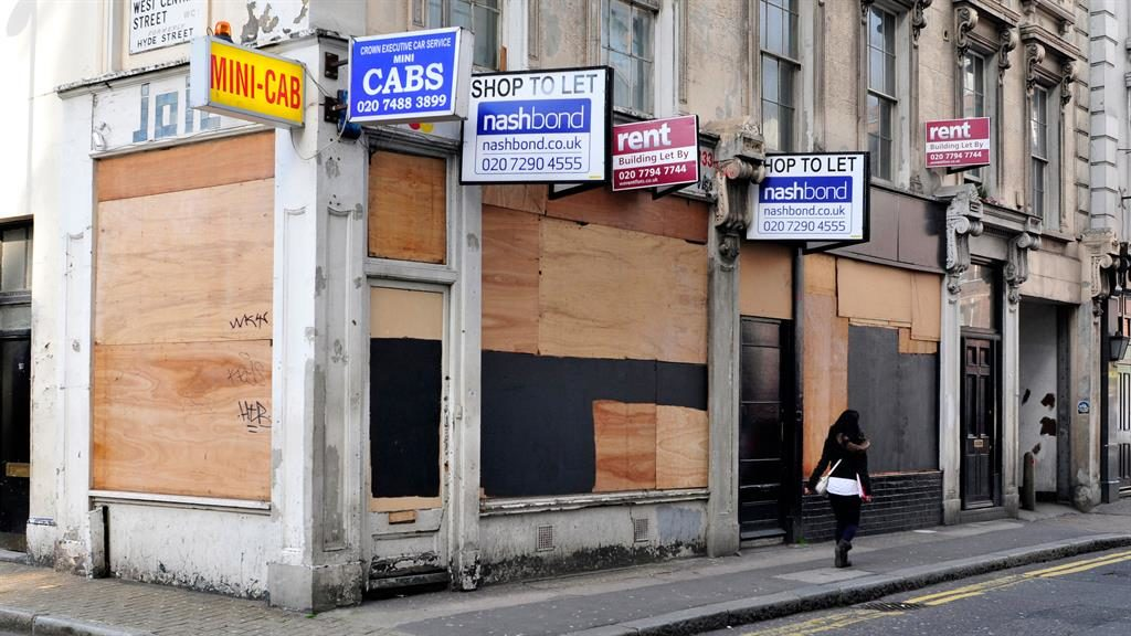 Boarded-up: High street shops PIC: ALAMY