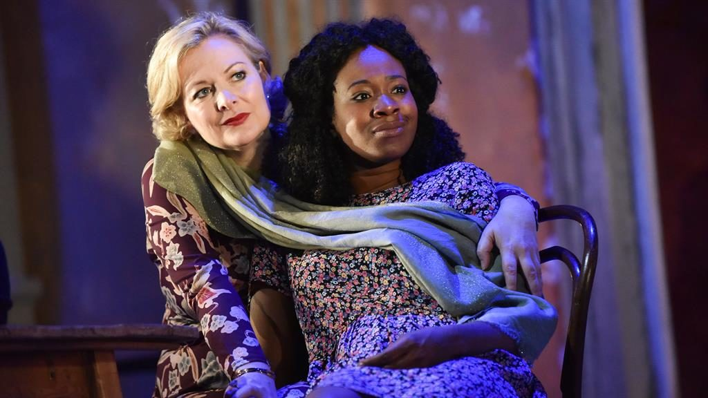 Out of touch: Sara Stewart, Evlyne Oyedokun and Sasha Frost (below) in The Cherry Orchard PIC: ROBERT DAY