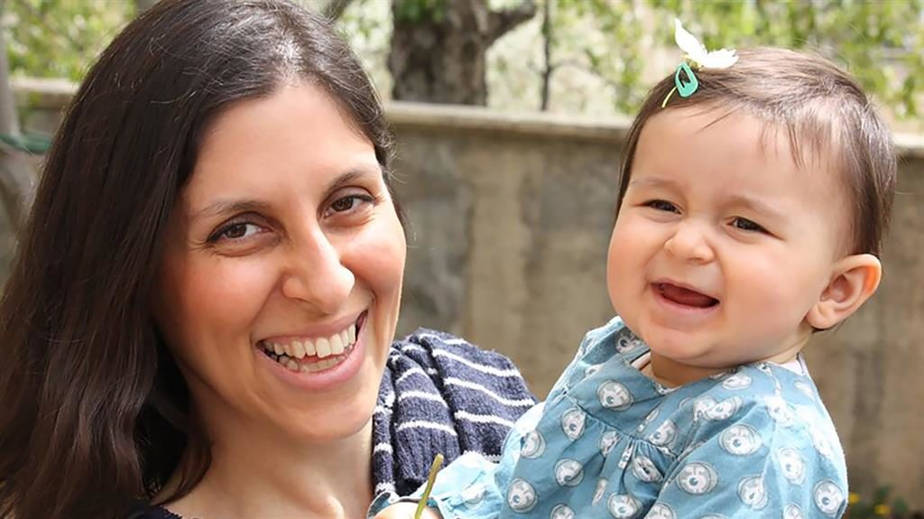 Detained on holiday: Nazanin Zaghari-Ratcliffe with her daughter Gabriella PIC: GETTY