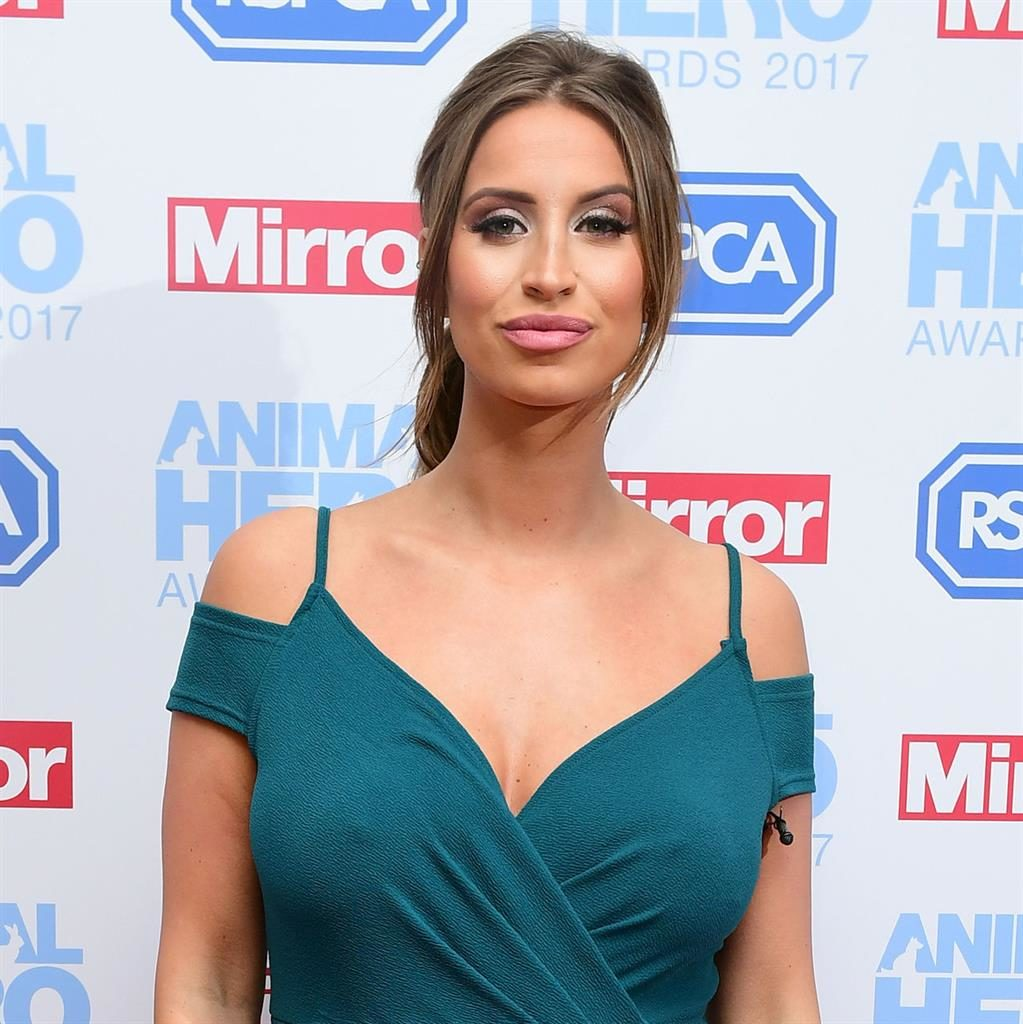 Baby: Ferne McCann had been dating Arthur Collins for a year PICTURES: PA