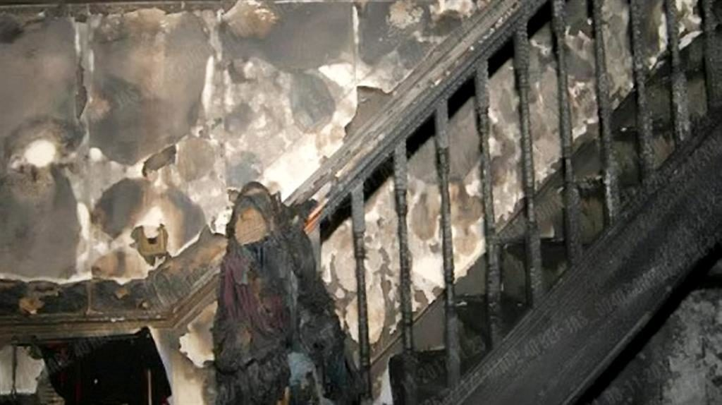 Gutted: The whole interior was destroyed in the attack PICTURES: SWNS