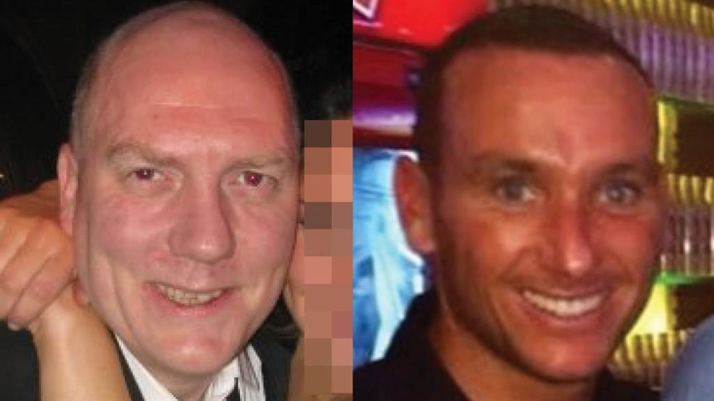 Office bust-up: Sebastian France (left) and boss Danny Fenn PICTURES: FACEBOOK/JUSTGIVING